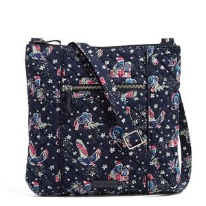 Vera Bradley Iconic Hipster in Holiday Owls NWT